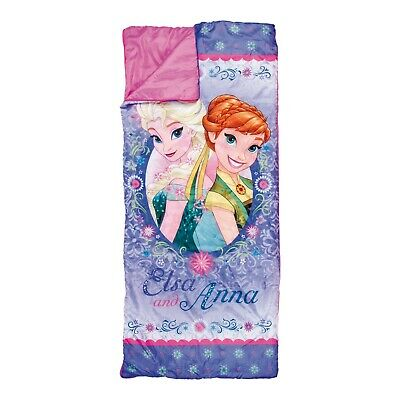 Disney Frozen Pink Sleeping Bag Elsa Anna Kids Camping Warm Blanket Carry Bag 2