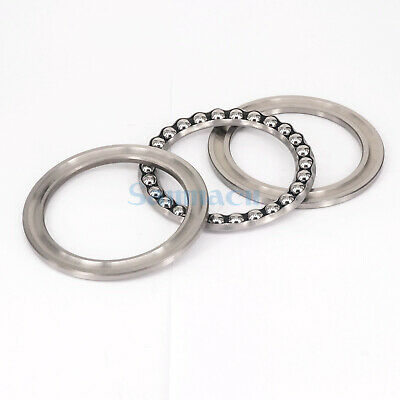 51116 80 x 105 x 19mm Axial Ball Thrust Bearing (2 Steel Races +1 Cage) ABEC-1 5