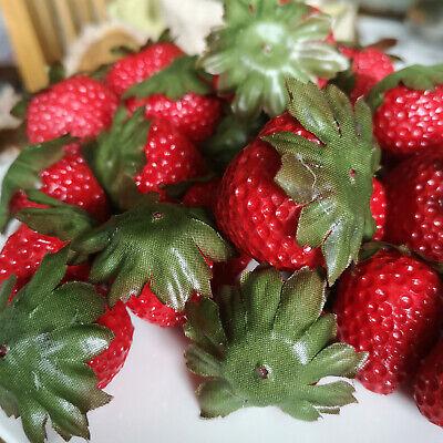 24 x Deko Erdbeeren Früchte Sortiert Attrappen Dekoration Kunstobst Dekofrüchte 4