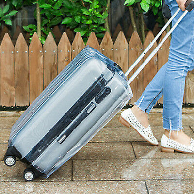 Plastic Travel Luggage Suitcase Cover Protector Scratch Dustproof Bag 20 24 28 6