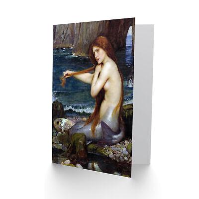 John William Waterhouse Mermaid Old master painting Vierge Carte de vœux