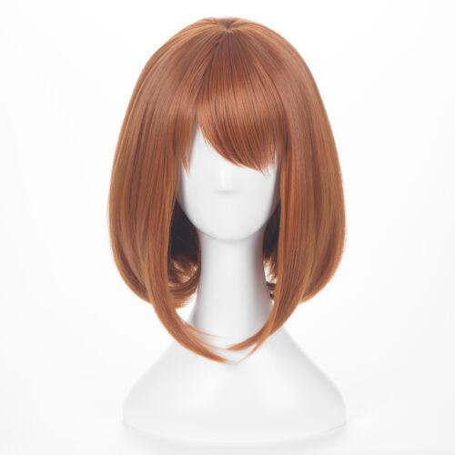 Hot Anime My Boku No Hero Academia Ochako Uraraka Short Hair Cosplay Wig 1pcs 17 31 Picclick Uk