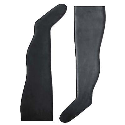 Latex Strümpfe aus Gummi in schwarz, Einheitsgröße 4