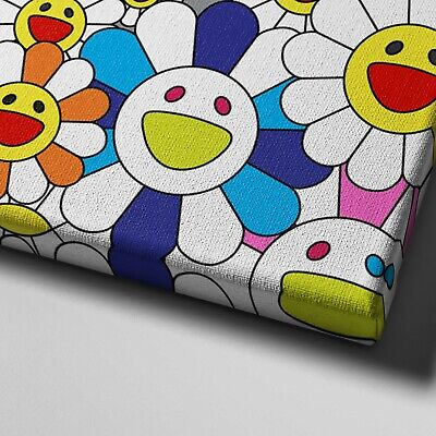 """16X20"""" Gallery Art Canvas: Takashi Murakami Flowers Smiley Faces Complexcon! 4"""