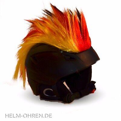 Helmirokese Iro Irokese f.Helm Fahrradhelm Kinderskihelm Deutschland Fan WM 2018