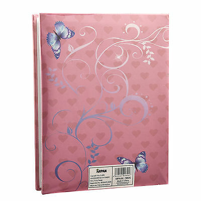 """6x4"""" 200 Photos Large Slip in Photo Album with front Window - Pink Butterfly 3"""
