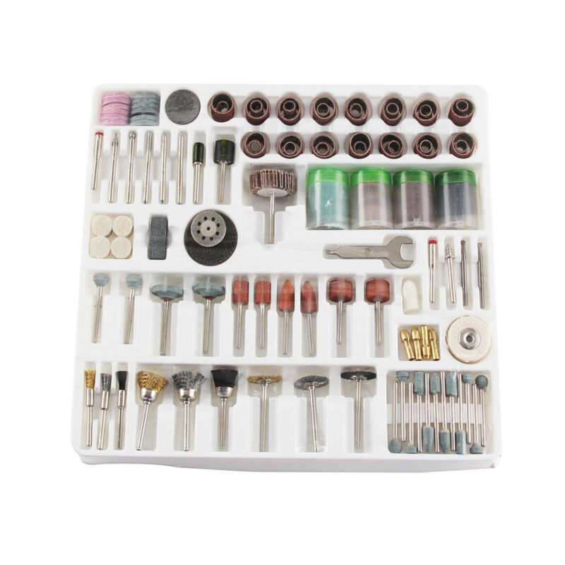 216Pcs  Mini Rotary Power Drill Tool Accessory Kit Fits Dremel Multi Tools 3