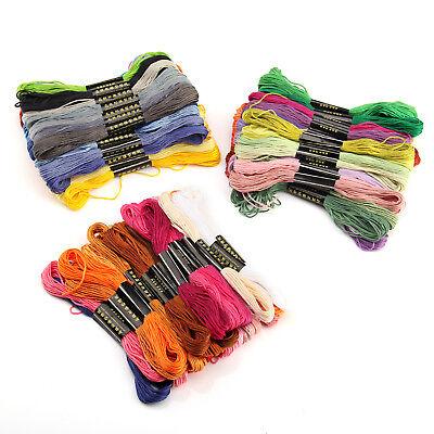 100 Docken Sticktwist Stickgarn 8m 6-fädig Multicolor farblich BUNT DIY  Sticken 9
