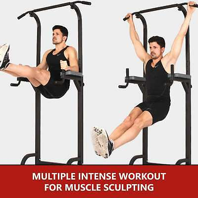 POWER TOWER GYM Dip Station Home Multi Chin Pull Push Up Bar Workout  Exercise AU