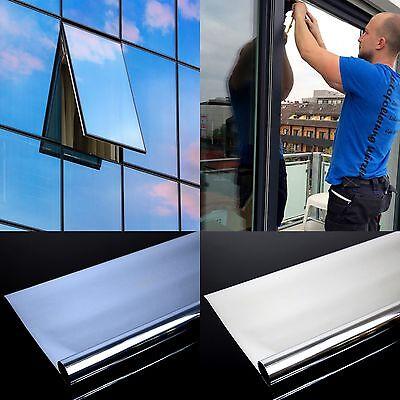 4,92€/m² Spiegelfolie Fensterfolie Spiegel Folie Fenster UV Sichtschutzfolie 7