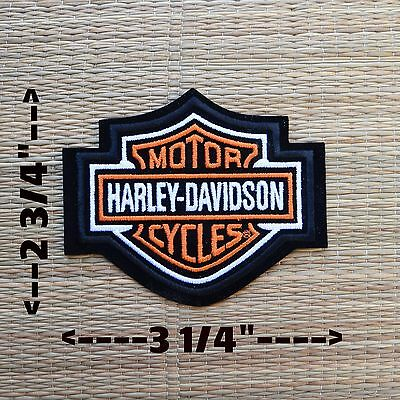 Harley Davidson Classic Orange Logo Sew-on Patch (Small) - Made in USA 2