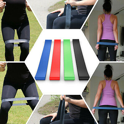 4 Packs The Best Pull Up Assist Bands Resistance Loop Reliable Natural Latex CA 8