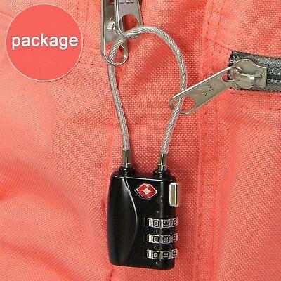 TSA Padlock Travel Smart Combination Locks 3 Digit Password Resettable Security 3