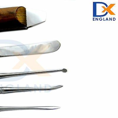 Dental Laboratory Wax Carving Modelling Tools Set Surgical Stainless Steel Knife 8