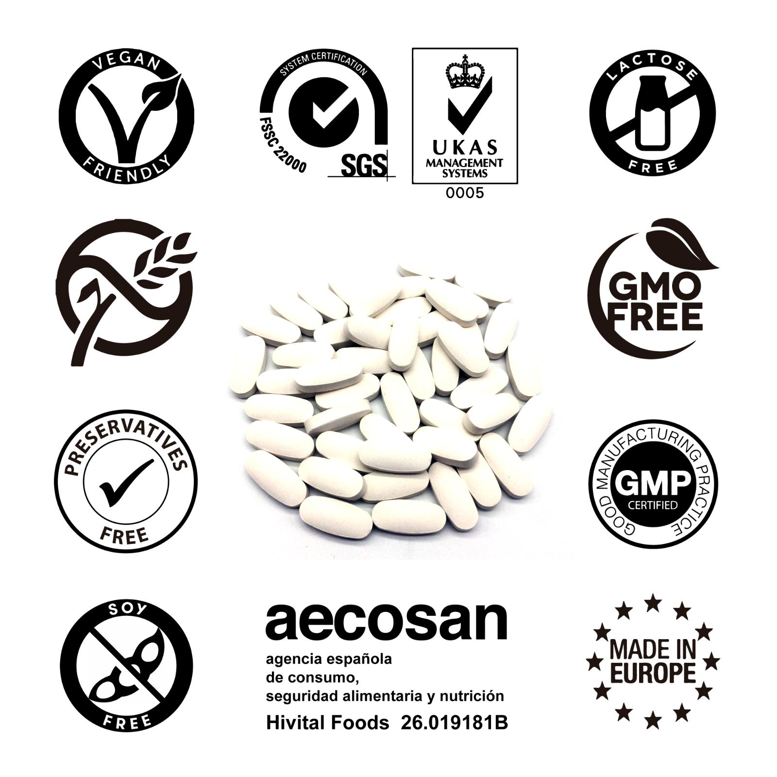 Vitamina C 1000 mg | 240 comprimidos veganos (Suministro para 8 meses) 4