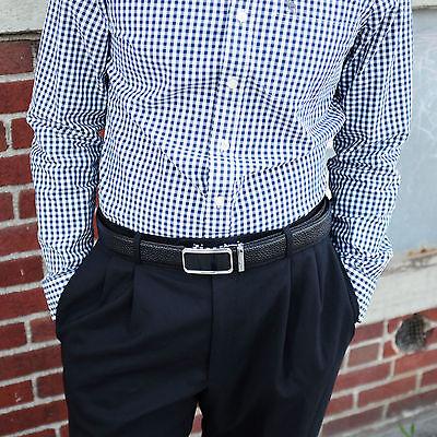Falari® Men's Genuine Leather Dress Ratchet Belt 35mm Adjustable Size 7011 5