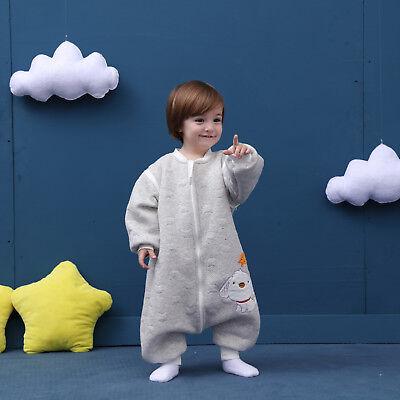 Baby Toddler Kids 100% Cotton Wearable Organic Blanket Sleeping Bag Winter Wrap 2