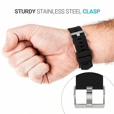 Replacement Watch Strap Band Metal Buckle Wristband Silicone For FitBit Charge 2 5
