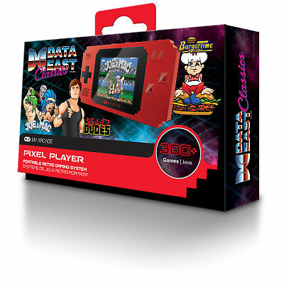 MY ARCADE Pixel Player Portable Handheld 300 Built-in Video Games+Data East Hits 2