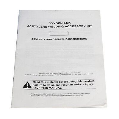New Gas Welding Cutting Kit Oxy Acetylene Oxygen Torch Brazing Fits 11