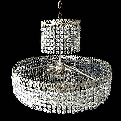 Elegant Large 8 Tier Crystal Beads Wedding Cake Bakalowits Era Chrome Chandelier 6