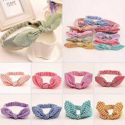 Newborn Kids Girls Headband Ribbon Elastic Baby Headdress Hair Band Bow Knot 4