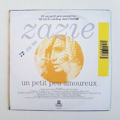 ZAZIE : UN PETIT PEU AMOUREUX (RTL - 1992)  ♦ CD Single Promo ♦ 2
