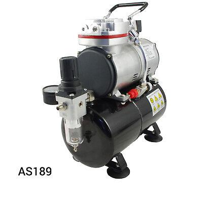 Airbrush Kompressor Airbrushpistole Komplett-Set Double-Action Pistolen Halter 3