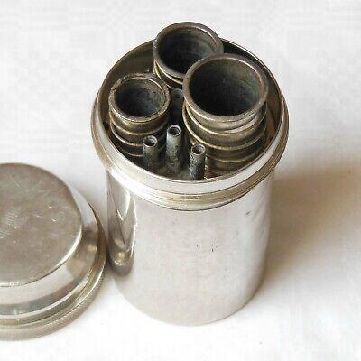 DREI-PFEIL MARKE - MAXIMUS antike Box für Spritzen und Nadeln Sterilisator WW2 8