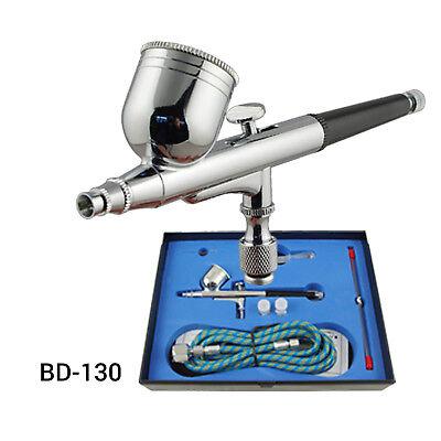 Airbrush Kompressor Airbrushpistole Komplett-Set Double-Action Pistolen Halter 9