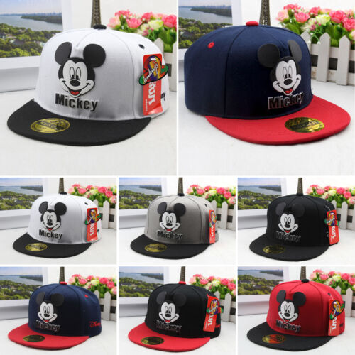 Kids Boys Girl Mickey Mouse Baseball Cap Hip Hop Sport Toddler Snapbacks  Sun Hat 3 3 of 5 See More 4844c896cd74