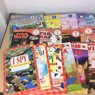 Lot of 10 Level 1~RL~Ready to-I Can Read-Step into Reading-Learn Read Books MIX 9