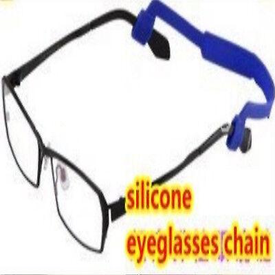 Laccio per occhiali lettura sport sole in silicone elasticizzato colorato nero 3