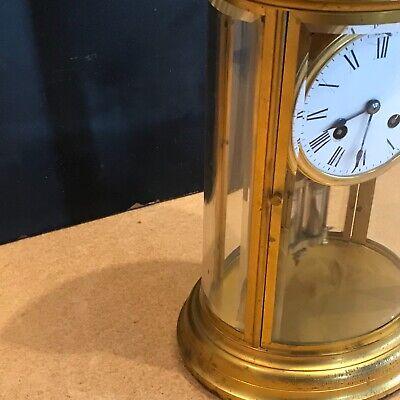 Superb french bevelled glass Japes Frees Victorian gilt framed clock 4