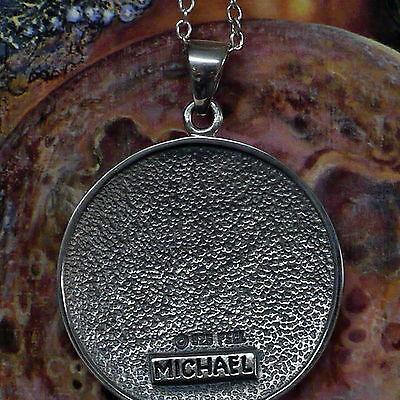 Peter Stone Erzengel Amulett Siegel Michael 925 Silber Schutz Kraftamulett
