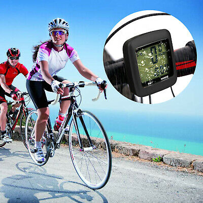 Wireless Waterproof Bicycle Bike Cycle LCD Digital Computer Speedometer Odometer 2