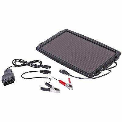 AA 12V Solar Powered Panel Car Caravan Battery EOBD Trickle Charger Maintainer 2