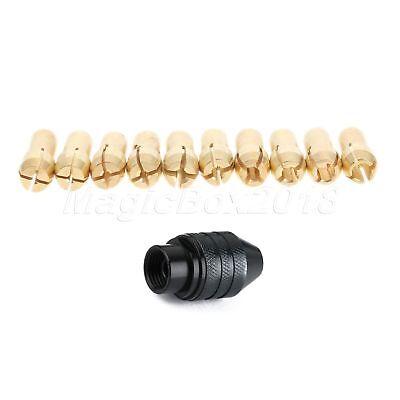0.5mm-3.2mm Brass Collet Chuck 4.3mm Shank & Long M8 Keyless Drill Chuck Tool 3