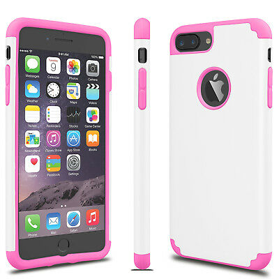 For iPhone 6S 7/8 Plus + Phone Case Luxury Shockproof Rugged Rubber Hard Cover 10