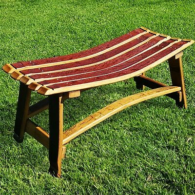 Outstanding Wine Barrel Small Garden Bench Patio Outdoor Furniture Home Gamerscity Chair Design For Home Gamerscityorg