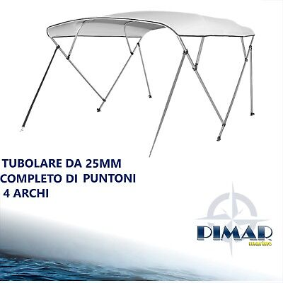Tendalino 4 archi BEST PRICE in alluminio Ø25mm  barca, gommone-160 /170/180/190 2