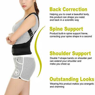 Posture Corrector Support Men Women Magnetic Back Shoulder Brace Belt Adjustable 5
