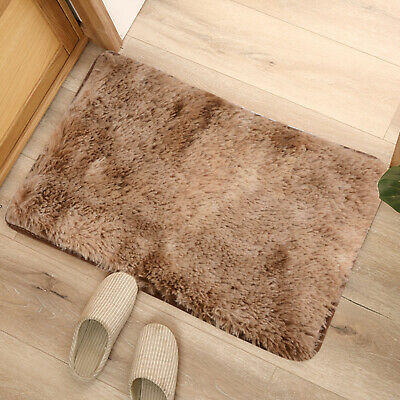 40*60CM Carpet Fluffy Rugs Anti-Skid Shaggy Area Rug Dining Room Bedroom Mat 7