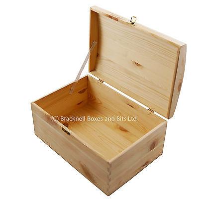 1 Of 6 Pine Wood Treasure Chest Storage Box Craft Unit Toys Child BPU120    5 Sizes