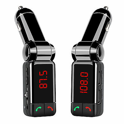 Wireless Bluetooth Car Kit FM Transmitter Handsfree Car Charger MP3 Player USB 5