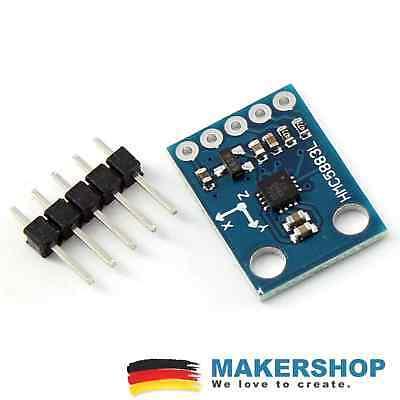Halfgeleiders, transistors GY-273 QMC5883L HMC5883L Kompass Modul Arduino 3-Achsen 3-5V 271