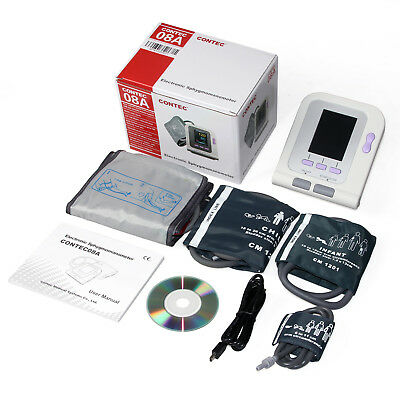CONTEC08A Color Blood Pressure Monitor BP Machine Pediatric Adult 4 Cuffs+ PC SW 2