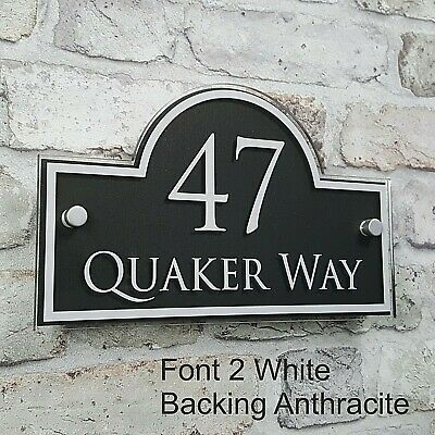 Contemporary House Address Plaques & Door Number Signs Personalised Name Plate 5
