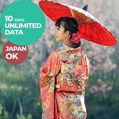 JAPAN 10DAY UNLIMITED DATA 3THREE DOCOMO Prepaid Travel SIM Card HOTSPOT  Asia 4G