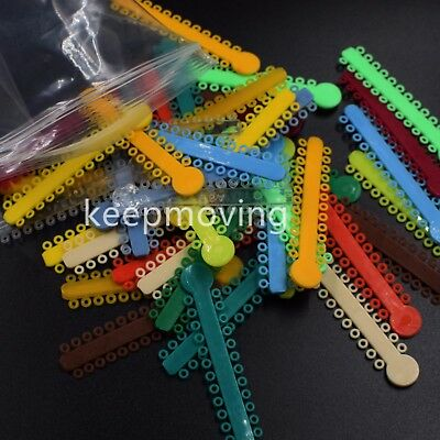 1040 Pcs Dental Orthodontics Elastic Ligature Ties Rubber Bands O-ring Braces 12